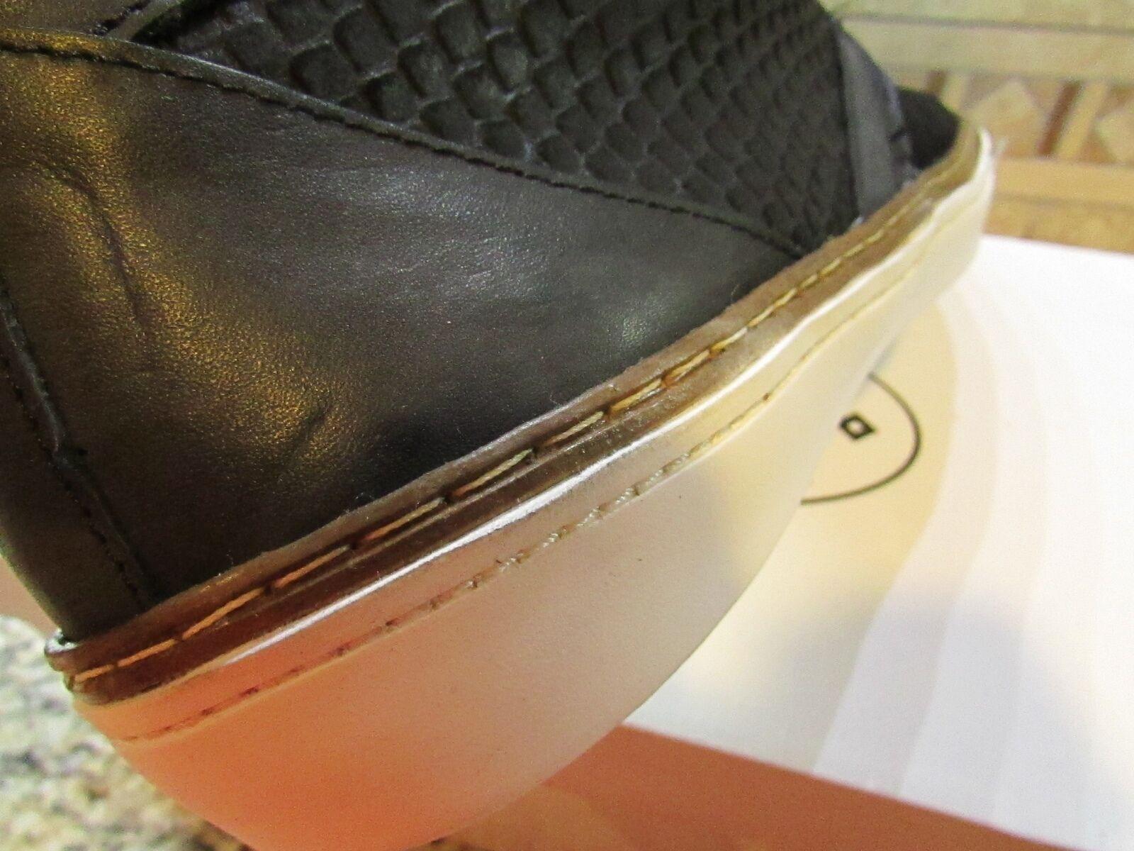NEW STEVE MADDEN BRAZENN CHUKKA BOOTS  BOOT SHOES BLACK BLACK SHOES MENS 10.5 LEATHER 6203c2