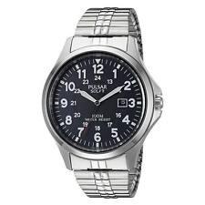 Pulsar PX3069 Men's Black Dial Steel Bracelet Power Reserve Watch