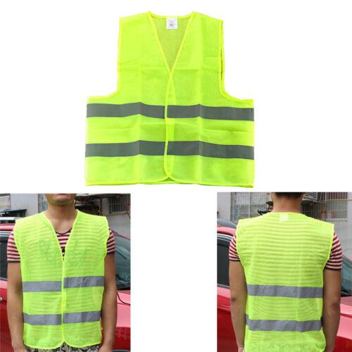 58*68cm 1Stk NEU O6M0 Streifen Warnweste Warnschutzweste Weste Profi Kleidung