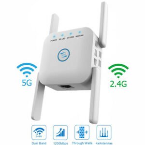 1200Mbps-WiFi-Extender-Signal-Range-Booster-Wireless-Dual-Band-Network-Repeater