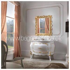 Mobile Bagno Stile Barocco Bombato Con Fregi Oro | eBay