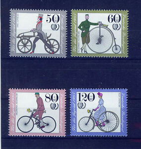 ALEMANIA-RFA-WEST-GERMANY-1985-MNH-SC-B630-B633-Antique-bicycles