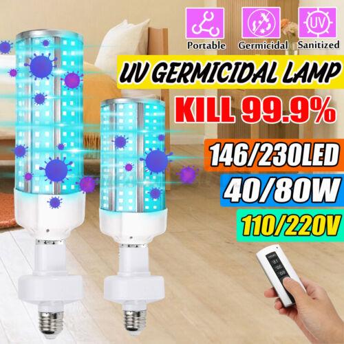 40//80W Ultraviolet Germicidal Lamp UVC Bulb Home Ozone UV Disinfection Light