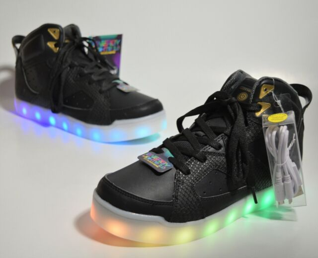 Skechers Energy Lights 2.0 Boys Girls Size 5 Youth Pro Street Quest LED Shoes