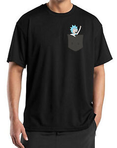Rick and Morty Tiny Rick n Morty T-Shirt Pocket Gift Cool Mens Womens T Shirt