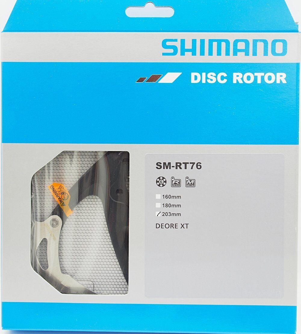 New Shimano Deore XT SM-RT76-L 6 Bolt redor 203mm, NIB
