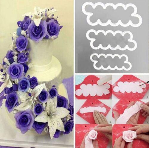 3D Rose Flower Fondant Cake Chocolate Sugarcraft Mould Mold Decorating Tool