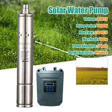 Dc 72v Solar Water Pump Stainless Steel Submersible Deep Well Mppt Controller