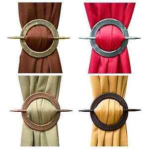 NEW-Set-of-2-Decorative-Window-Curtain-Holdbacks-Tie-Backs-Round-Braid