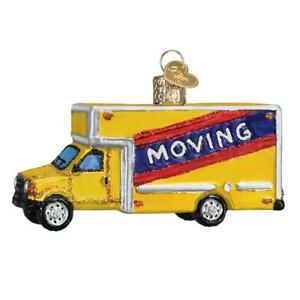 Old-World-Christmas-MOVING-TRUCK-46082-N-Glass-Ornament-w-OWC-Box