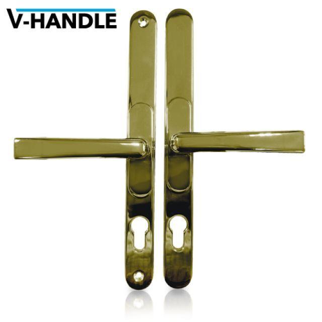 VERSA Universal uPVC Door Handles. Adjustable PZ - PVD Gold