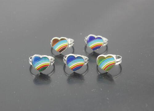 55pcs Wholesale Jewelry Lots Coeur Forme de Modifier la couleur de l/'humeur LADY/'S ANNEAUX AH399