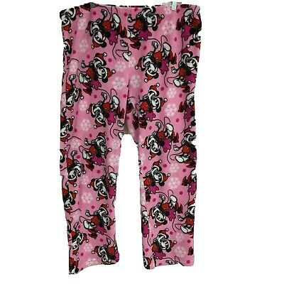 Girls Official Disney Minnie Mouse Pink Red Lounge Pants Trousers Sleepwear Bedtime PJS