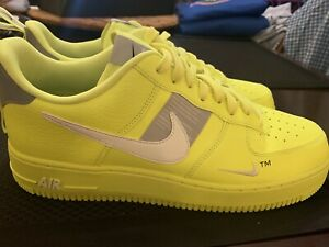 Details about Nike Air Force 1 Low '07 LV8 Utility VoltWhite Wolf Grey Size 12 AJ7747 700 New