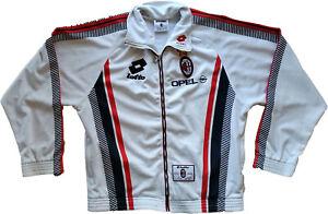 Dettagli su maglia milan vintage Lotto sport Baggio 1995 96 track top felpa