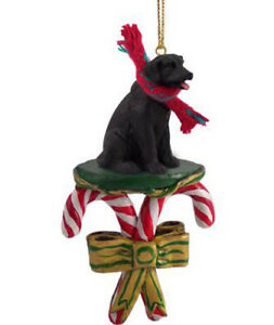 Image Is Loading Labrador Retriever Black Lab Dog Candy Cane Christmas