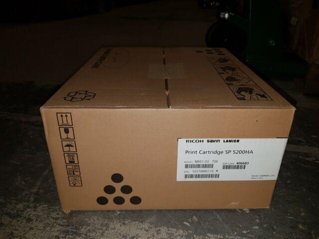 RICOH 406683 SP5200HA BLACK TONER CARTRIDGE SP5200 SP 5210SF SAVIN GENUINE NEW