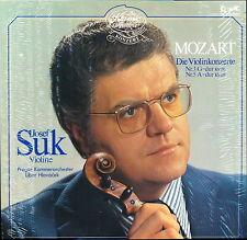 Josef Suk Mozart Violin concertos No 3 / No 5 Supra 200 053-250 LP hole punch