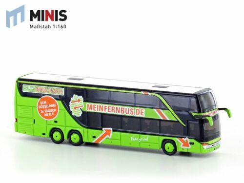 Lemke Minis N 1:160 Setra S431 DT Reisebus Flixbus Meinfernbus LC4471