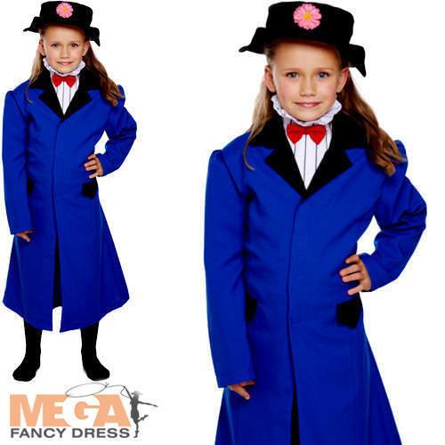 Victorian Nounou Robe FANTAISIE Fille Monde Livre Jour Enfants Enfant Costume Outfit NEUF
