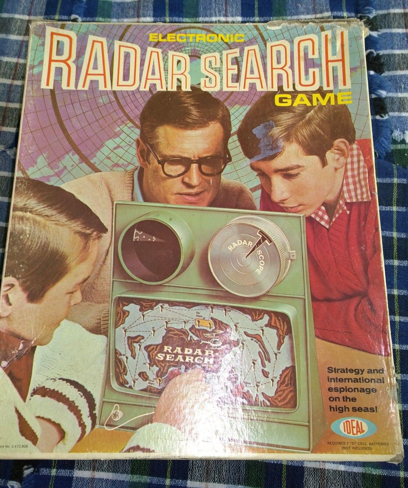 VINTAGE ELECTRONIC RADAR SEARCH GAME 1969 bits parts