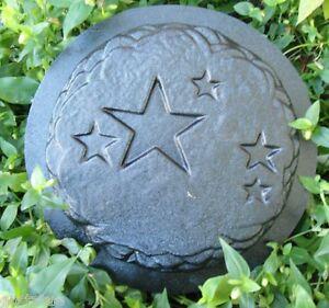 """Star plaque MOLD plaster concrete plastic mould 11/"""" x 1//2/"""" thick"""