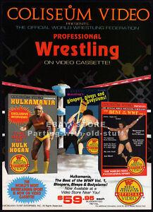 WWF-COLISEUM-VIDEO-Original-1985-print-AD-promo-HULKAMANIA-Pro-Wrestling