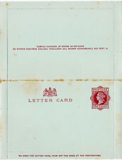 Great Britain 1892 QV One Penny Postal Stationery Letter Card H&G #1b Mint