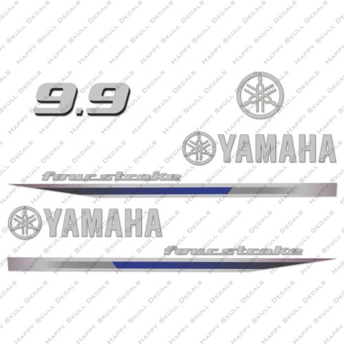 Yamaha 9.9HP Four Stroke Outboard Engine Decals Sticker Set reproduction 2013