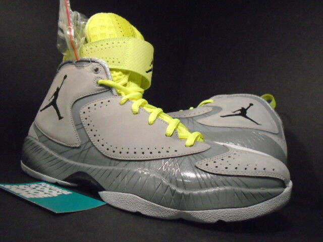 Nike Air Jordan 2012 WOLF GREY BLACK SILVER ICE WHITE VOLT NEON 484654-001 DS 10