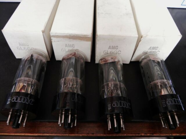 AMC 6L6GC Radio Vacuum Tube Lot of 4 All Tested Good Vintage Old Stock w/  Box