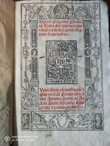 Post incunabolo 1512 Opera Omnia Origene