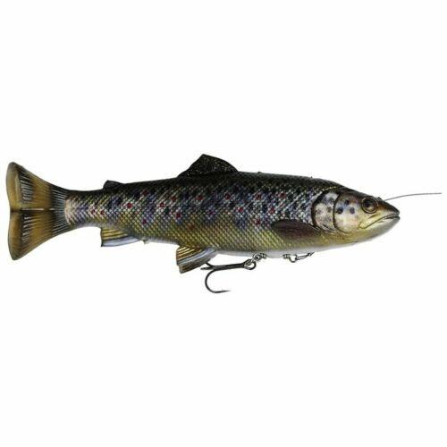 Savage Gear 4d Line Thru pulsetail Trout Caoutchouc Poisson Swimbait Pulse Tail Cuillère