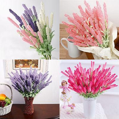 12 Heads Artificial Flowers Lavender Hanging Bouquet Wedding Home Decor