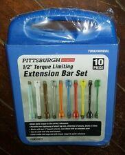 Automotive 10 Piece 12 Torque Limiting Extension Bar Set Item 69870