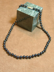 VINTAGE-17-034-STRAND-OF-ONYX-BEADS-WITH-14K-FILAGREE-CLASP-6MM-BEADS