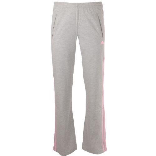 Womens Adidas 3 Stripe Jersey Pants Training Gym Trousers Yoga Bottoms Size 12