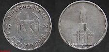 ALLEMAGNE !  5  reichsmark  argent 1935 D , en TB