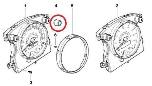BMW Mini One//Cooper//S Pair of Hazard Light//Speedometer Light Switch Chrome Cover