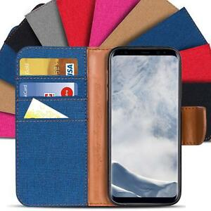 Samsung-Galaxy-S8-Plus-Phone-PU-Leather-Magnetic-Flip-Case-Wallet-Denim-Cover