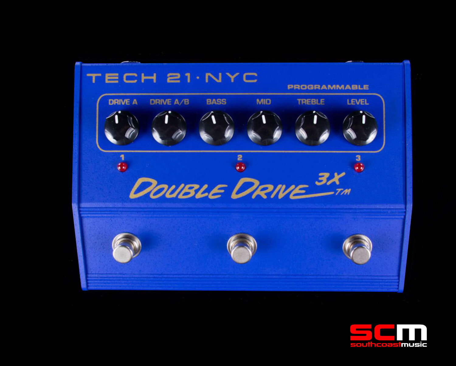 TECH 21 Double Drive 3X Electric Guitar Overdrive Distortion Pedal Last One NEW