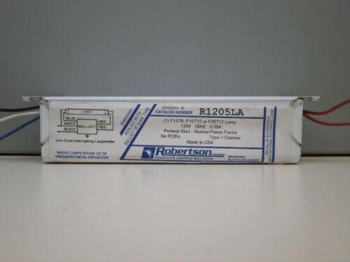 1 F20T12 F15T12 F15T8 Robertson R1205LA Fluorescent 120V 50Hz Ballast for 10