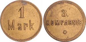 1 Mark Militärgeld 3.Kompanie Approx. 1910 German South West Africa Colonies