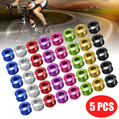 US 5Pcs Bike Crankset Chainring Bolts /& Nuts Chainwheel Bolts Screws 6.55mm