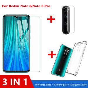 3in1 para Xiaomi Redmi 8 7 Pro Estuche + Note Cámara Lente de cristal + protector de pantalla
