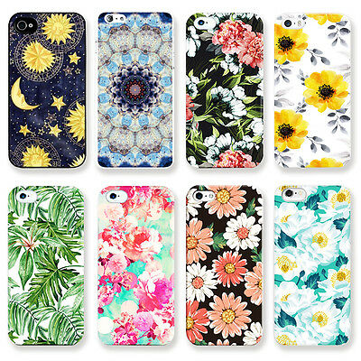 """Pretty Flower Pattern Hard Skin Case Cover For Apple iPhone 4S 5S 5C 6 4.7"""" 5.5"""""""