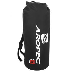 AROPEC Black Dry Bag Triathlon Kayaking Waterproof Travel Bag 40 Litre