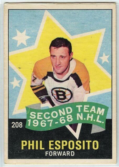 1968-69 OPC Hockey #208 Phil Esposito AS2 VG Condition (2020-05)