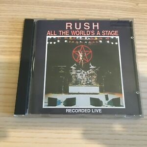 Rush _ All The World's a Stage _ CD Album Live _ 1st press Polygram West Germany