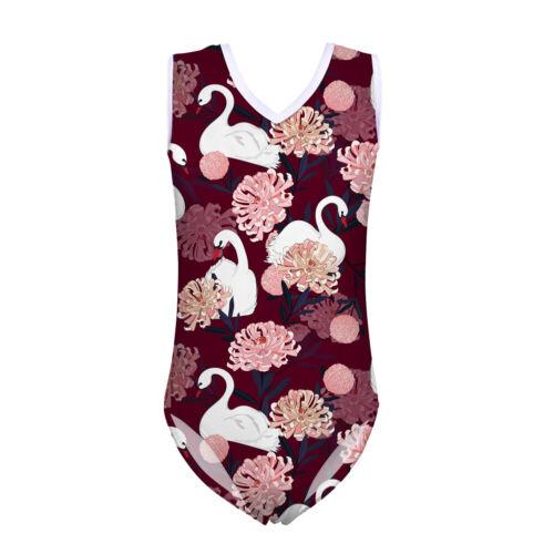 Swan Mignon Plage Costume été maillots de bain filles 5-14 Ans Gilet maillot de bain natation